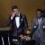 Emocionado junto a Pelé y su hijo durante la Gala FIFA Balón de Oro 2013
